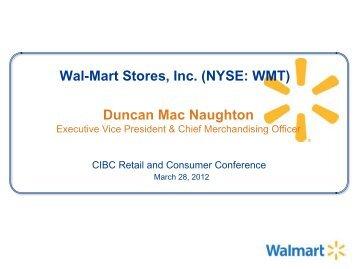 Wal-Mart Stores, Inc. (NYSE: WMT) Duncan Mac Naughton
