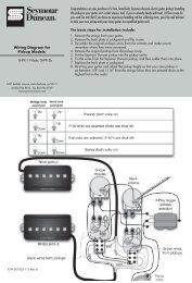 Wiring Instructions - Seymour Duncan