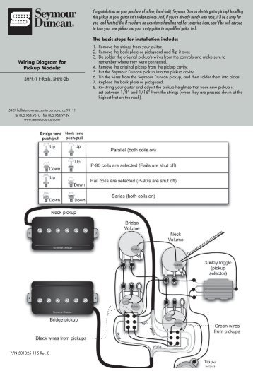tone it's what defines  wiring instructions seymour duncan