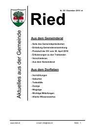Bulletin Nr. 50 (November 2010) - Gemeinde Ried b. Kerzers