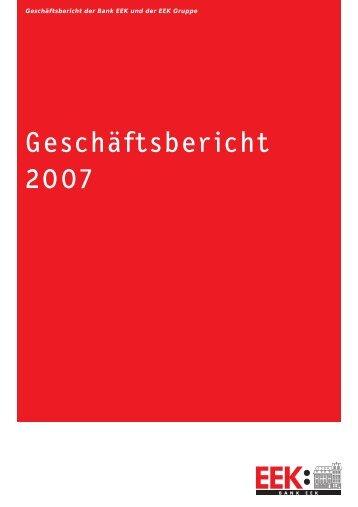 Jahresbericht 2007 - Bank EEK