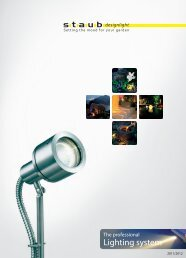 Product catalog - staub designlight ag