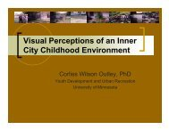 Visual Perceptions of an Inner City Childhood Environment