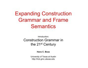 Expanding Construction Grammar and Frame Semantics