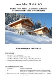 Chalets Three Peaks, Les Collons/Les Masses ... - Immobilien Stehlin