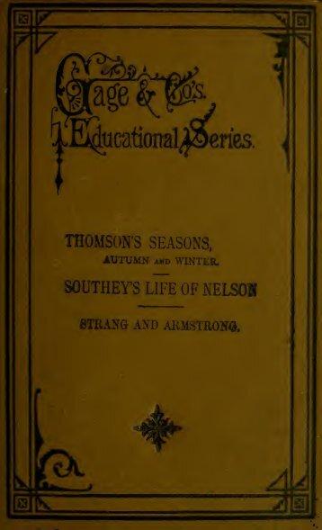 Thomson's Seasons, Autumn and Winter [microform]