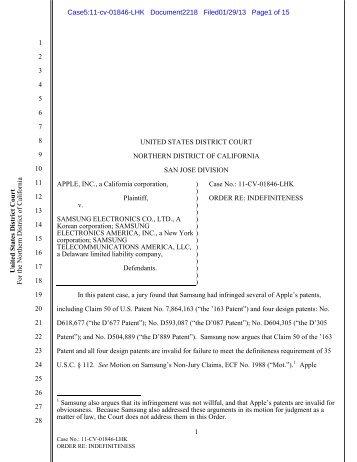 Order re: Indefiniteness (.pdf, 126 KB) - United States District Court ...