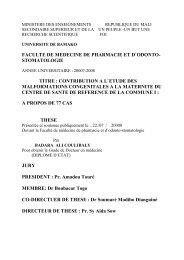 faculte de medecine de pharmacie et d`odonto- stomatologie titre ...