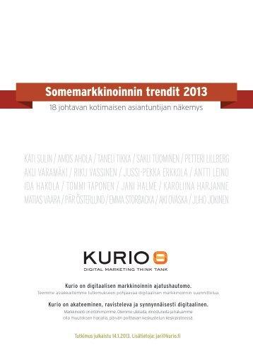 Somemarkkinoinnin trendit 2013
