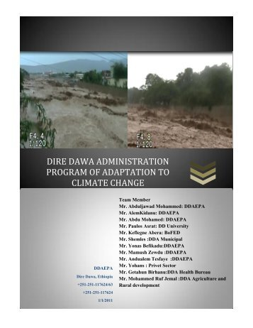 dire dawa administration program of adaptation to climate change