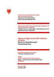 Rapporto di Aggiornamento della Valutazione Intermedia ... - DpS