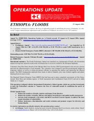 ETHIOPIA: FLOODS - International Federation of Red Cross and ...