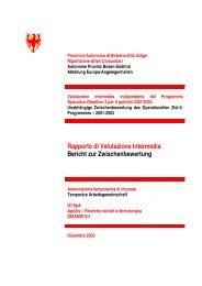 Rapporto di Valutazione Intermedia Bericht zur ... - Dps - MEF