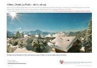 Villars, Chalet La Perle – ski in, ski out