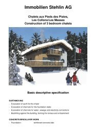 Immobilien Stehlin AG Chalets aux Pieds des Pistes, Les Collons/Les