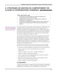 Stratégies de gestion du comportement en classe et