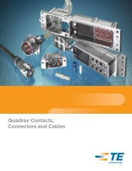 Quadrax Contacts, Connectors and Cables - Newark