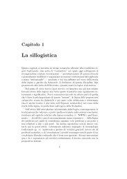 La sillogistica - Dipartimento di Filosofia