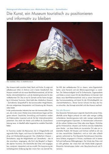 Matterhorn Museum Zermatlantis - Steiner Sarnen Schweiz