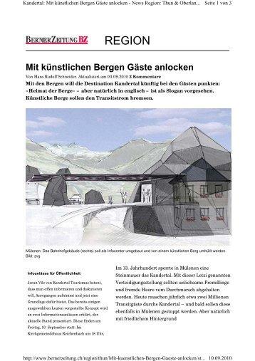 Mit künstlichen Bergen Gäste anlocken - Steiner Sarnen Schweiz