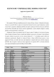 Elenco dei minerali del Somma-Vesuvio (aggiornato a ... - Vesuvioweb
