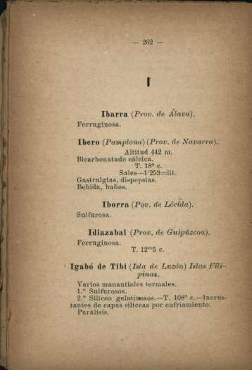 Ibarra (Prov. de Álava). Iborra (Pqv. de Lérida). 1