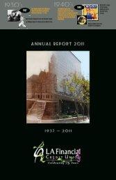 2011 Annual Report - LA Financial Credit Union