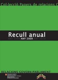 Recull anual - Generalitat de Catalunya