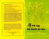 If we say we have no sin - New Creation Teaching Ministry