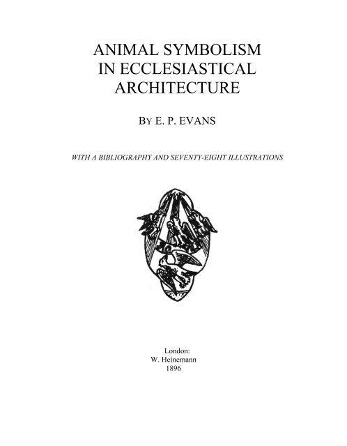 Evans Animal Symbolism In Ecclesiastical Architecture Pdf