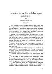 Estudios sobre flora de las aguas minerales - Real Jardín Botánico