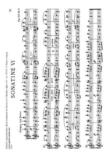 Diabelli - 6 Sonatinas on 5 Notes Opus 163 No 6 - Primo