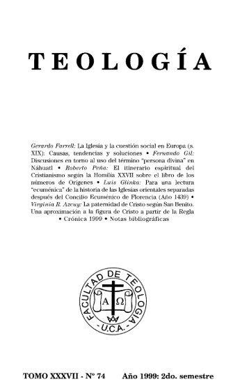 teología - Biblioteca Digital - Universidad Católica Argentina