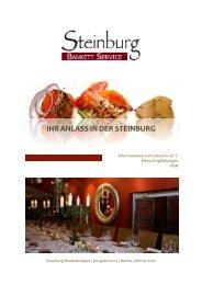 Bankett à la carte - Restaurant Steinburg