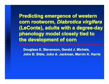 Predicting emergence of western corn rootworm, Diabrotica virgifera