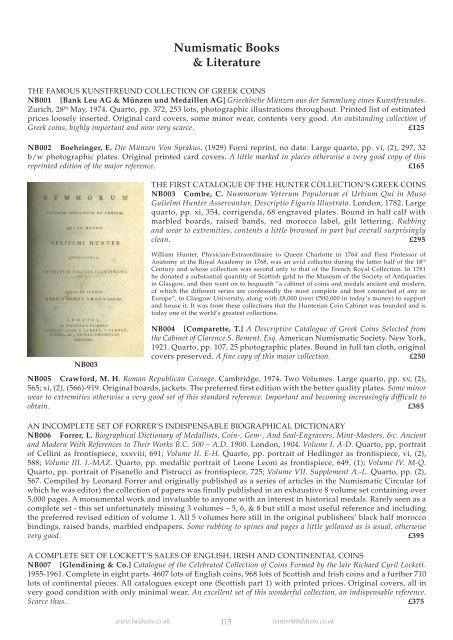 Numismatic Books pdf - Baldwin's