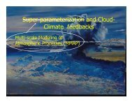 Multi-scale Modeling of Atmospheric Processes and Cloud - cmmap