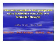 Observed Atmospheric Total Percipitable Water Distribution From ...