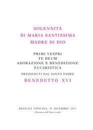 celebrazione dei primi vespri della solennità di maria - La Santa Sede