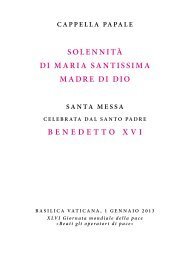 solennità di maria santissima madre di dio ... - La Santa Sede