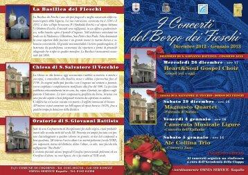 I Concerti del Borgo dei Fieschi - Comune di Cogorno