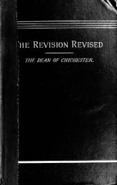 The revision revised : three articles reprinted from the 'Quarterly ...