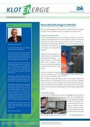 Neue Netzleitanlage in Betrieb - Industrielle Betriebe Kloten
