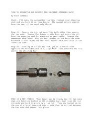 """""""HOW TO DISMANTLE AND REBUILD THE DELOREAN STEERING ..."""