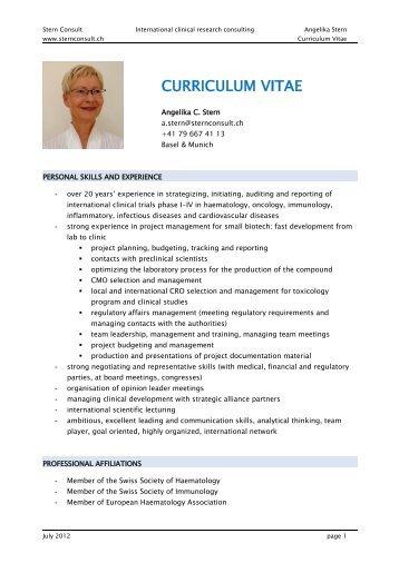 curriculum vitae and nature consulting international