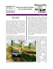 DeLorean Club of Oregon News & Information - DMC-News & The ...