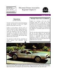 DeLorean Owners Association Regional Chapter 41 - DMC-News ...