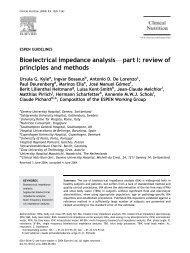 Bioelectrical impedance analysisFpart I: review of principles ... - espen