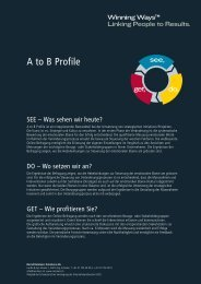 A to B Profile - Bernd Remmers Consultants