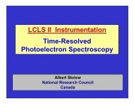 LCLS II Instrumentation Time-Resolved Photoelectron Spectroscopy
